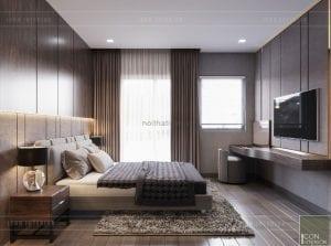 mẫu thiết kế biệt thự 2 tầng hiện đại - phòng ngủ 1