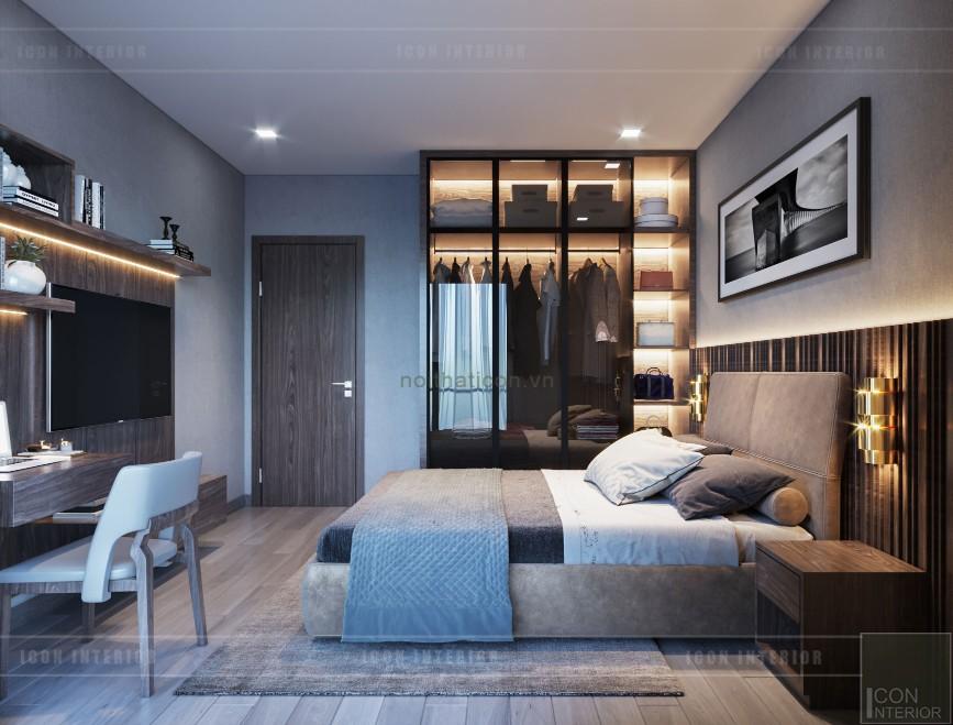 mẫu thiết kế nội thất biệt thự 2 tầng hiện đại phòng ngủ 2