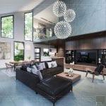 mẫu thiết kế biệt thự 2 tầng hiện đại - phòng khách
