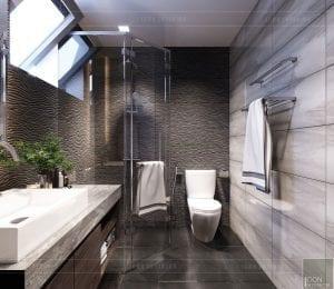mẫu thiết kế biệt thự 2 tầng hiện đại phòng vệ sinh
