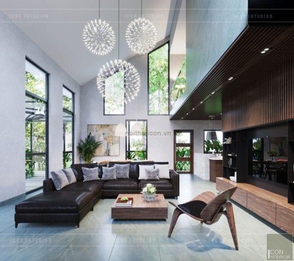 mẫu thiết kế biệt thự 2 tầng hiện đại