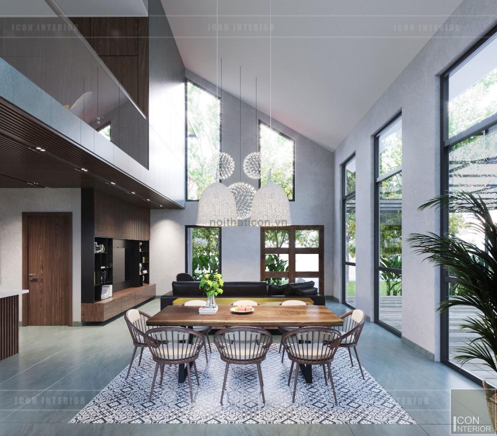 mẫu thiết kế biệt thự 2 tầng hiện đại - phòng ăn