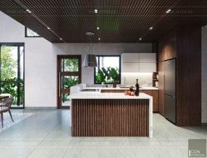 mẫu thiết kế biệt thự 2 tầng hiện đại - nhà bếp
