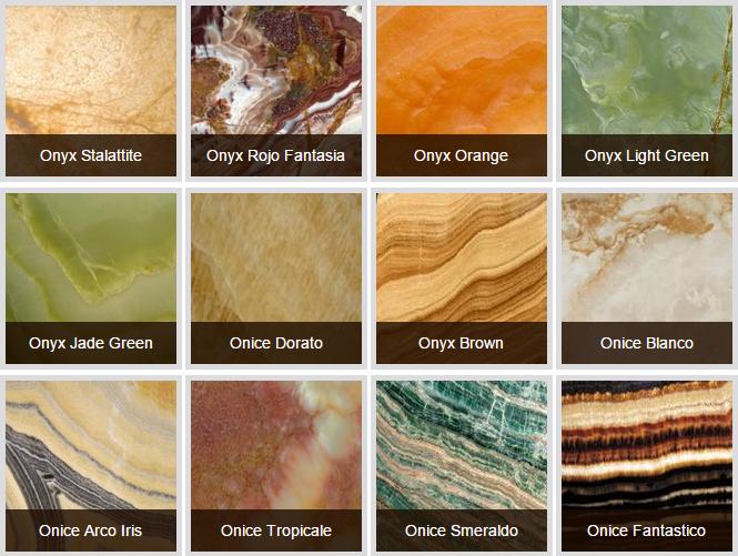 các loại đá dùng trong nội thất - đá xuyên sáng onyx