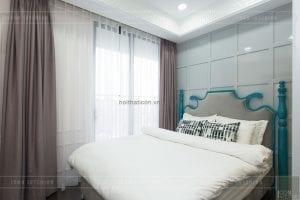 thi công nội thất phong cách đông dương - phòng ngủ nhỏ
