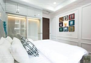 thi công nội thất phong cách đông dương phòng ngủ