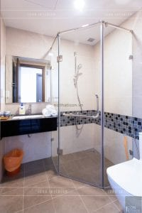 thi công nội thất phong cách đông dương - phòng tắm master