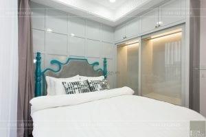thi công nội thất phong cách đông dương phòng ngủ nhỏ