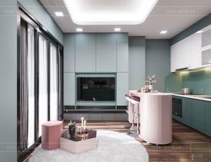 mẫu thiết kế nhà chung cư 60m2