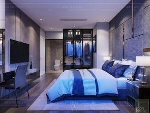 thiết kế căn hộ Landmark 6 Vinhomes Central Park - phòng ngủ master