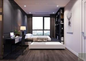thiết kế căn hộ Landmark 6 Vinhomes Central Park - phòng ngủ nhỏ