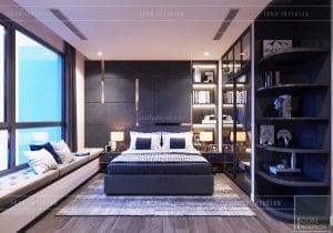 thiết kế nội thất căn hộ Landmark 6 Vinhomes Central Park - phòng ngủ nhỏ 1