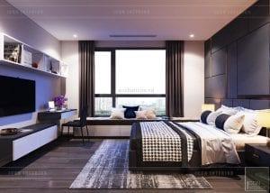 thiết kế căn hộ Landmark 6 Vinhomes Central Park - phòng ngủ nhỏ 1