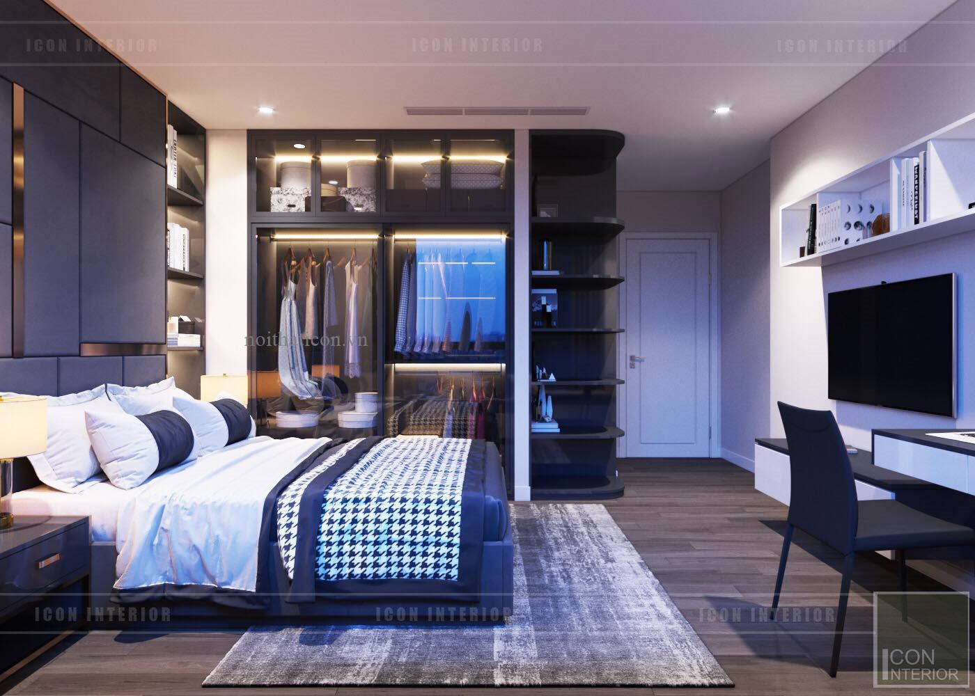 thiết kế nội thất Landmark 6 Vinhomes Central Park - phòng ngủ nhỏ 1