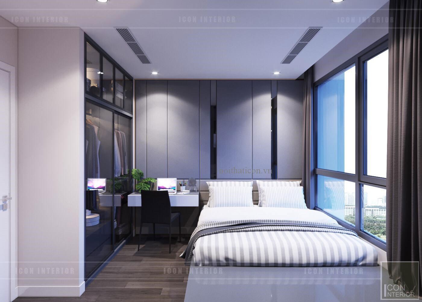 thiết kế nội thất căn hộ Landmark 6 Vinhomes Central Park - phòng ngủ nhỏ 2