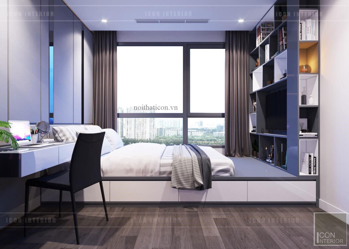 thiết kế căn hộ Landmark 6 Vinhomes Central Park - phòng ngủ nhỏ 2