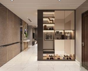 thiết kế căn hộ Landmark 6 Vinhomes Central Park - tiền sảnh