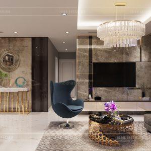 thiết kế nội thất căn hộ luxury 6 vinhomes ba son - phòng khách