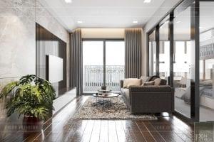 thiết kế căn hộ wilton novaland - phòng khách