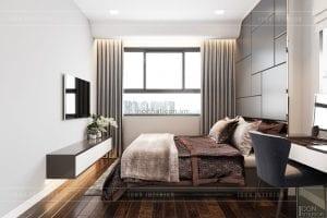 thiết kế căn hộ wilton novaland - phòng master