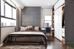 thiết kế căn hộ wilton novaland - phòng ngủ master