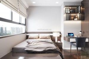 thiết kế căn hộ wilton novaland - phòng ngủ
