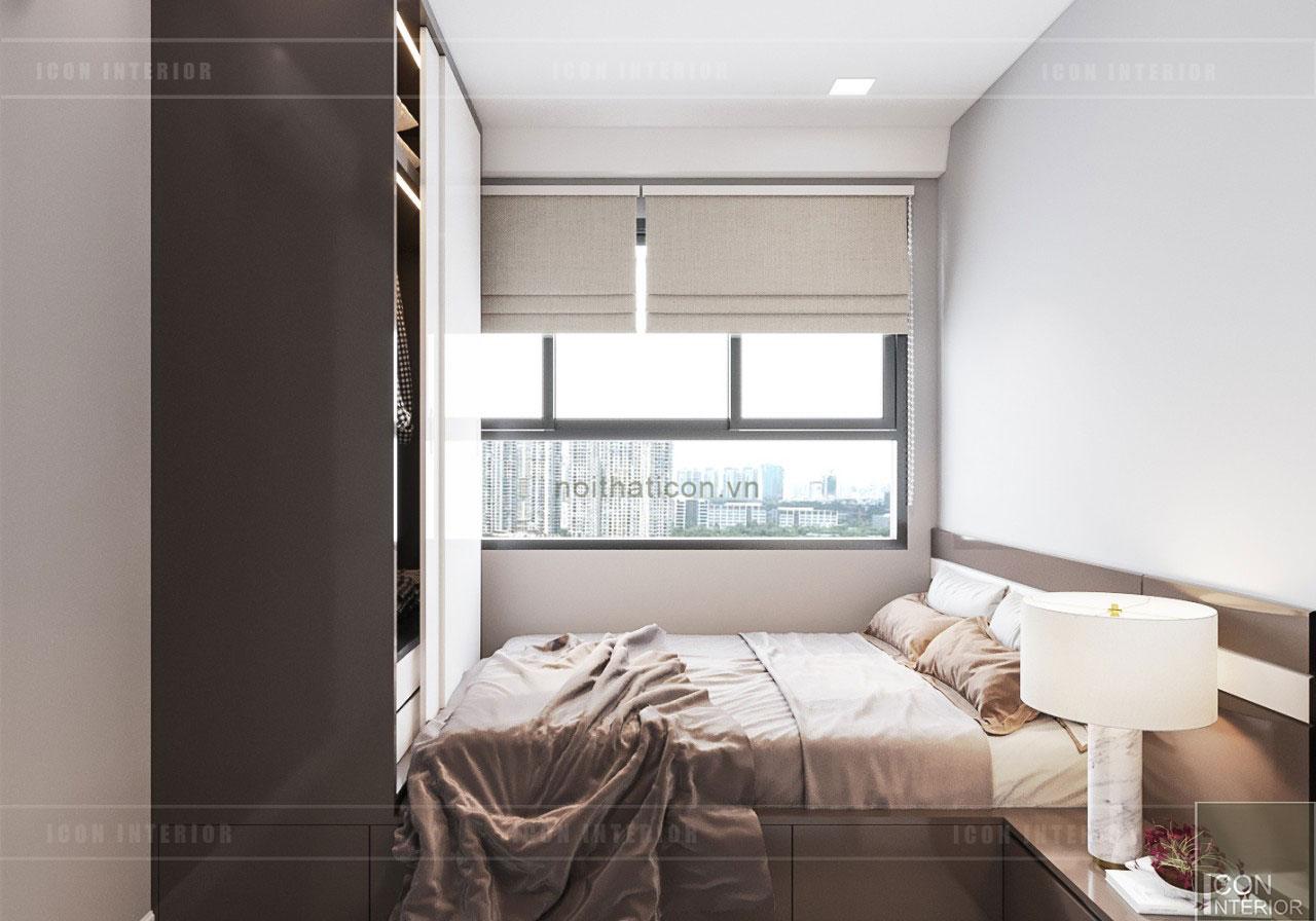 thiết kế căn hộ wilton novaland - phòng ngủ nhỏ