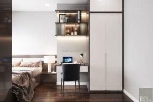 thiết kế nội thất căn hộ wilton novaland - phòng ngủ