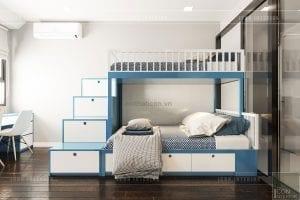 thiết kế căn hộ wilton novaland - phòng bé