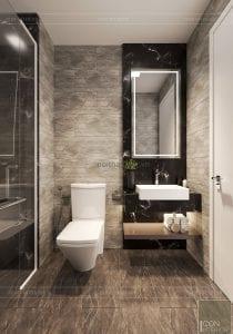 thiết kế căn hộ wilton novaland - phòng tắm
