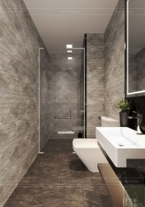 thiết kế căn hộ wilton novaland - phòng vệ sinh