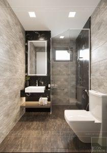 thiết kế căn hộ wilton novaland - phòng vệ sinh master