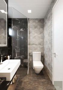 thiết kế căn hộ wilton novaland - phòng tắm master