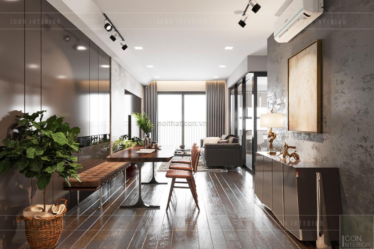 thiết kế căn hộ wilton novaland - phòng ăn