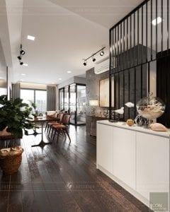 thiết kế căn hộ wilton novaland - tiền sảnh