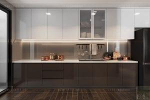 thiết kế căn hộ wilton novaland - nhà bếp