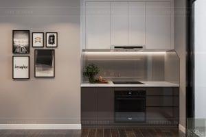 thiết kế căn hộ wilton novaland - phòng bếp