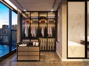 thiết kế phòng thay đồ luxury 6 vinhomes golden river