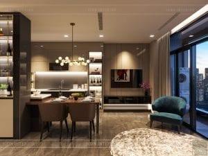 luxury 6 vinhomes golden river - phòng khách