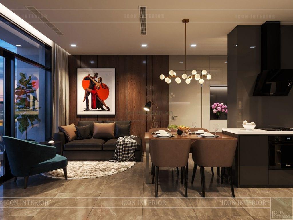 thiết kế phòng khách luxury 6 vinhomes golden river