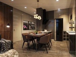 luxury 6 vinhomes golden river - phòng ăn