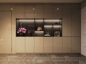 thiết kế kệ trang trí luxury 6 vinhomes golden river