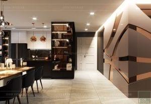 thiết kế nội thất căn hộ vinhomes ba son - tiền sảnh 2