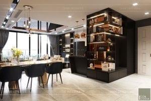 thiết kế nội thất căn hộ vinhomes ba son - phòng ăn 3