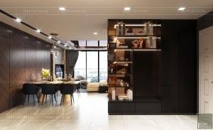 thiết kế nội thất căn hộ vinhomes ba son - phòng ăn 2