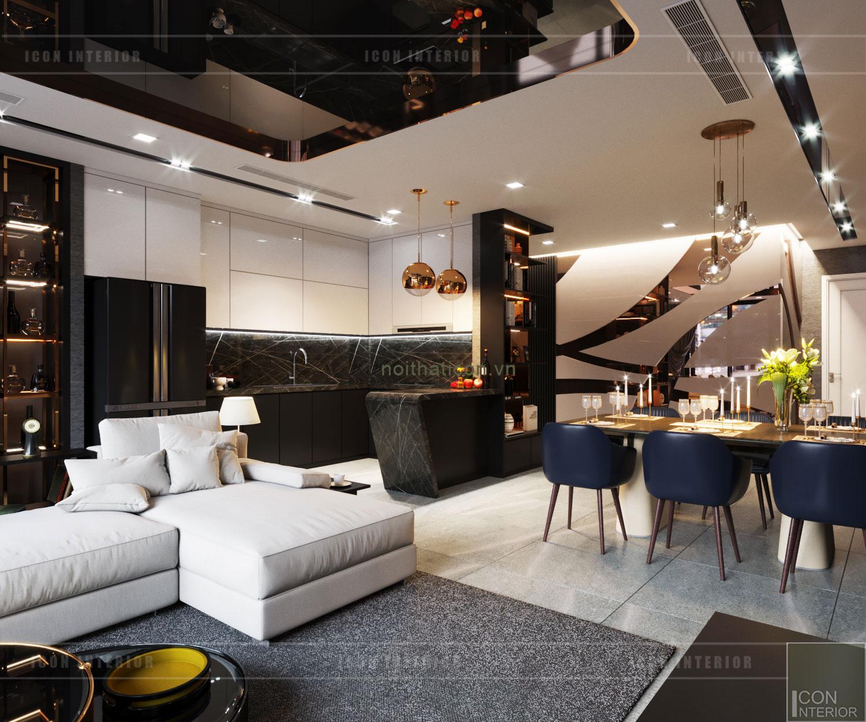 nội thất căn hộ vinhomes ba son - phòng khách bếp 3