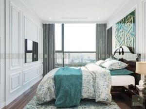 thiết kế nội thất phong cách á đông phòng ngủ master 2