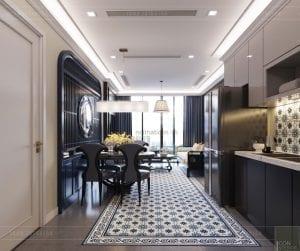 nội thất phong cách đông dương - phòng ăn