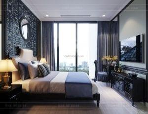 nội thất phong cách đông dương - phòng ngủ