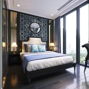 thiết kế nội thất phong cách đông dương - phòng ngủ